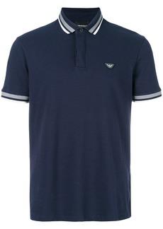 Emporio Armani logo polo shirt - Blue