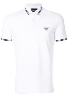 Emporio Armani logo polo shirt - White
