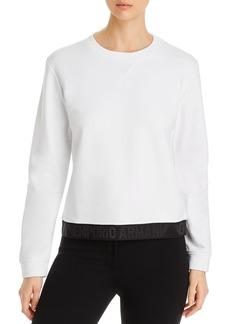 Emporio Armani Logo Trim Pullover Sweatshirt