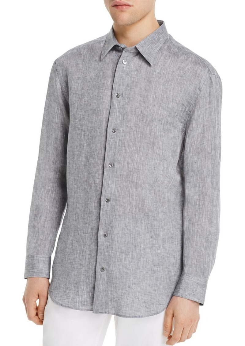 Emporio Armani Long-Sleeve Flax Regular Fit Sports Shirt
