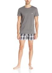 Emporio Armani Men's 100% Cotton Short Sleeve Pajama Set