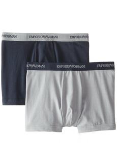 Emporio Armani Men's 2 Pack Cotton Boxer Brief