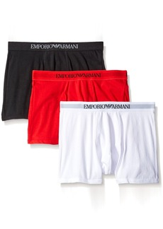 Emporio Armani Men's Cotton Boxer Briefs 3-Pack