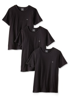 Emporio Armani Men's 3-Pack Crew Neck Lift T-Shirt Black