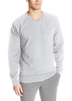 Emporio Armani Men's Athletic Big Eagle French Terry Lounge Crew Neck Pullover  S