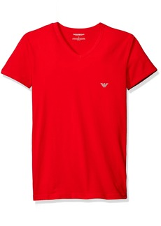 Emporio Armani Men's Athletic Big Eagle V-Neck T-Shirt