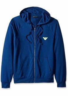 Emporio Armani Men's Big Eagle Full Zip Hooded Sweatshirt  Extra Large