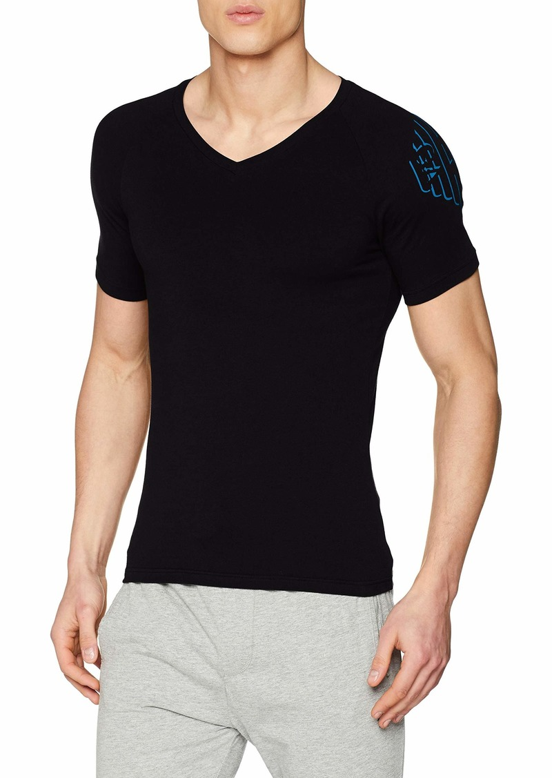 Emporio Armani Men's Big Eagle V-Neck T-Shirt