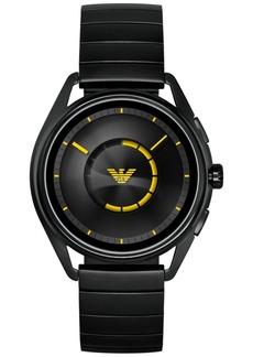 Emporio Armani Men's Black Stainless Steel Bracelet Touchscreen Smart Watch 43mm