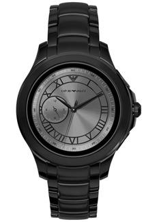 Emporio Armani Men's Black Stainless Steel Bracelet Touchscreen Smart Watch 46mm