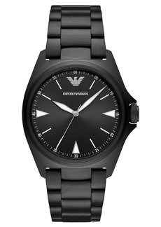 Emporio Armani Men's Black Stainless Steel Bracelet Watch 40mm