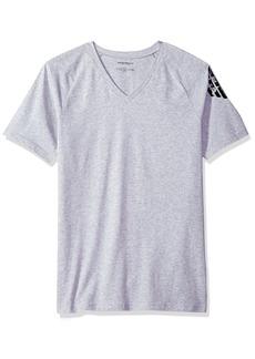 Emporio Armani Men's Bold Eagle V-Neck T-Shirt Slim Fit  S