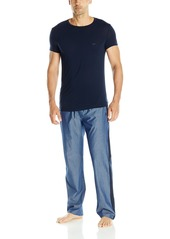 Emporio Armani Men's Chambray and Viscose Pajama Set