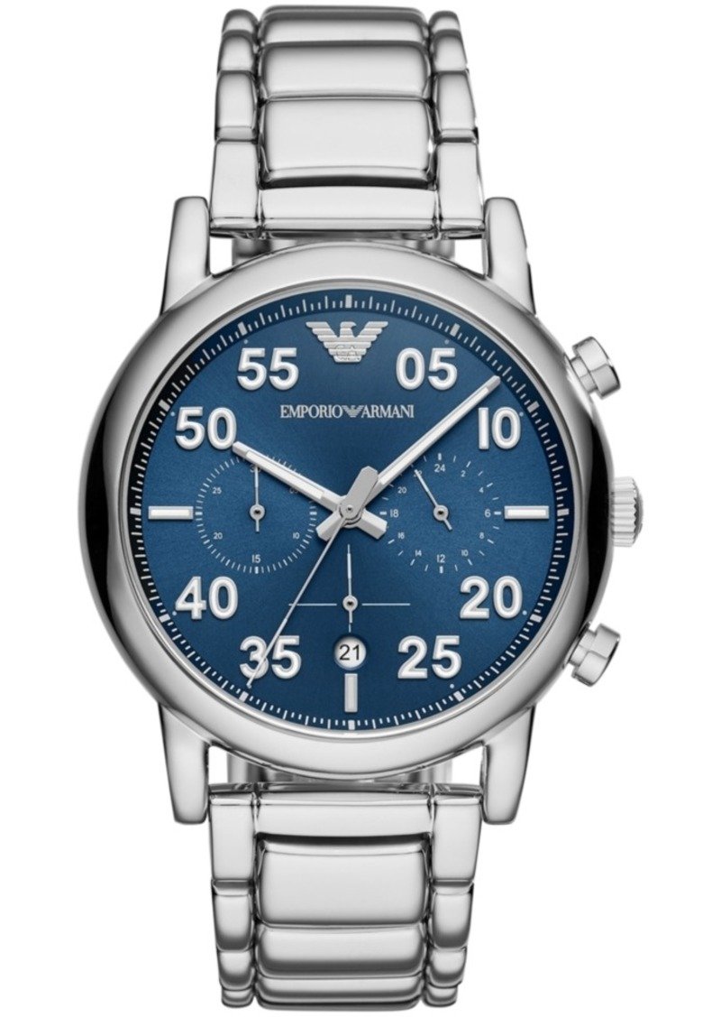 Emporio Armani Men's Chronograph Stainless Steel Bracelet Watch 43mm
