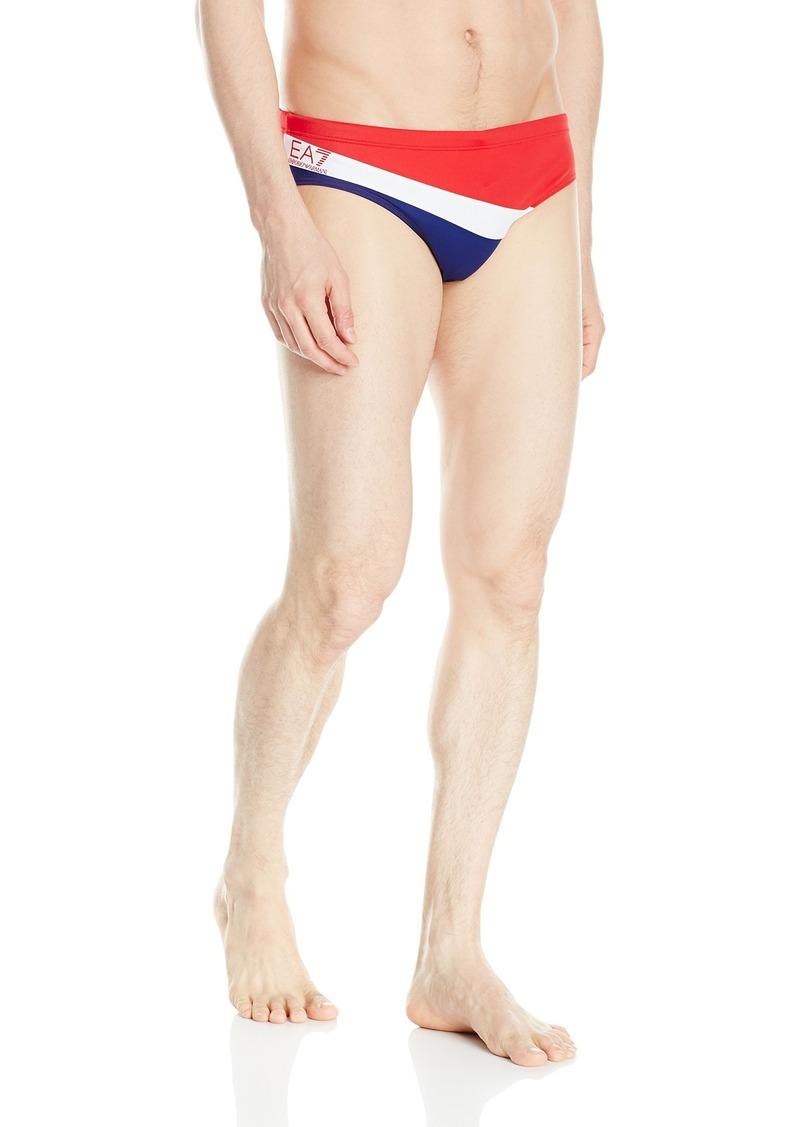 Emporio Armani Men's Color Block Stripe Swim Brief