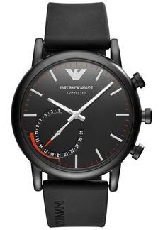 Emporio Armani Men's Connected Black Rubber Strap Hybrid Smart Watch 43mm