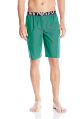 Emporio Armani Men's Cotton Bermuda Shorts with Mega Logo Band