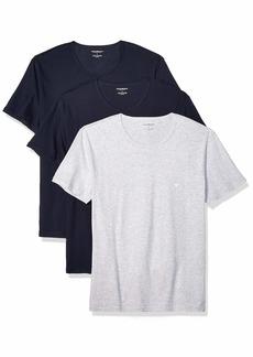 Emporio Armani Men's Cotton Crew Neck T-Shirt 3-Pack Grey Navy