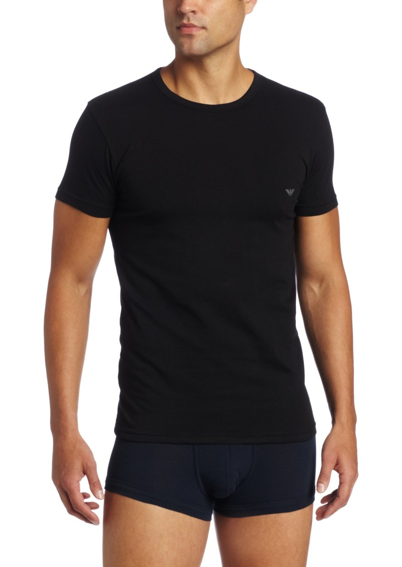 Emporio Armani Men's Cotton Stretch Crew Neck Tee