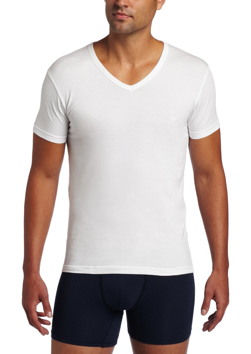 Emporio Armani Men's Cotton Stretch V-Neck Tee