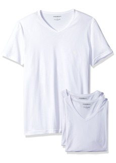 Emporio Armani Men's Cotton V-Neck Undershirts 3-Pack