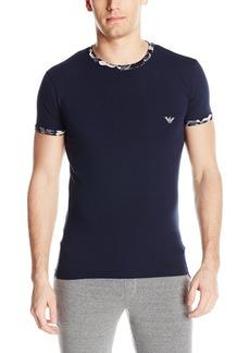 Emporio Armani Men's Deconstructed Camo Eagle Crew Neck T-Shirt