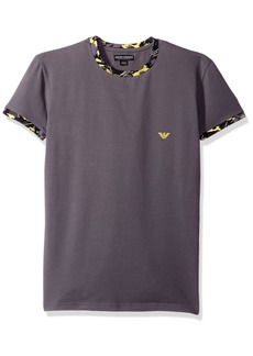 Emporio Armani Men's Deconstructed Camo Eagle Crew Neck T-Shirt