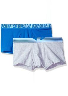 Emporio Armani Men's Double Logo Waistband 2-Pack Trunk