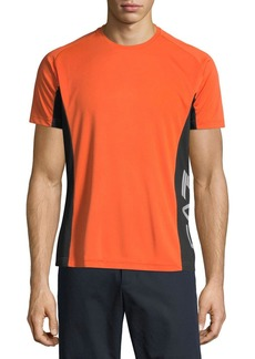 Emporio Armani Men's EA7 Ventus Logo-Trim Wicking T-Shirt  Orange