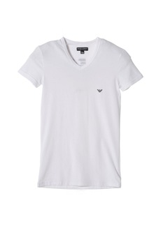 Emporio Armani Men's Classic Eagle Stretch Cotton V-Neck T-Shirt