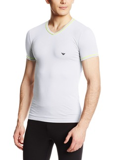 Emporio Armani Men's Fashion Fluo V-Neck Knit T-Shirt