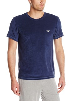 Emporio Armani Men's French Terry Sail Lounge Crew Neck Blue