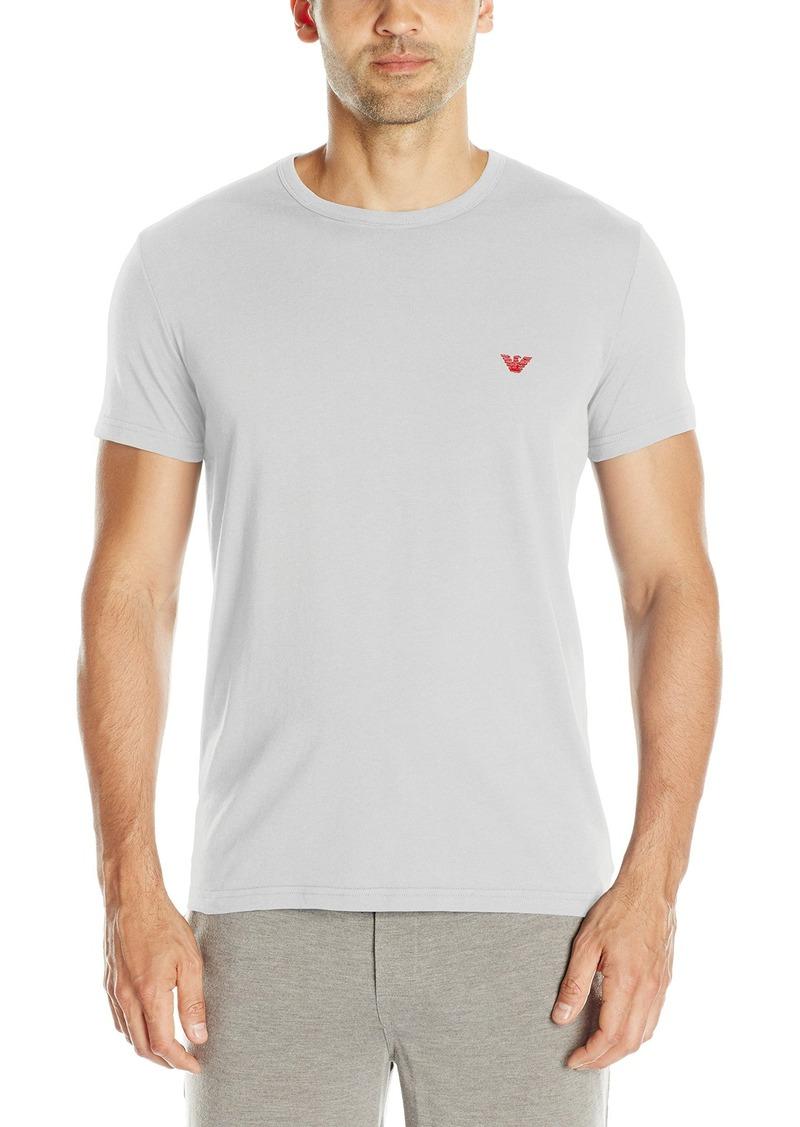 Emporio Armani Men's Hidden Print Crew Neck T-Shirt