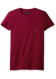 Emporio Armani Men's Iconic Logo Stretch Cotton Crew Neck T-Shirt