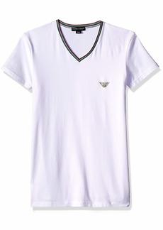 Emporio Armani Men's Italian Logoband Vneck T-Shirt