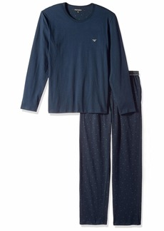 Emporio Armani Men's Jersey Printed Patterns Pajamas  L