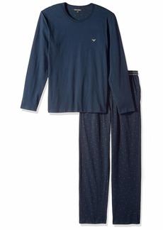 Emporio Armani Men's Jersey Printed Patterns Pajamas  XL