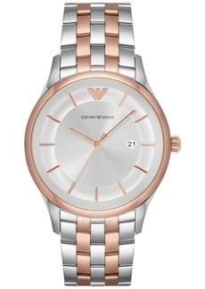 Emporio Armani Men's Lambda Two-Tone Stainless Steel Bracelet Watch 43mm AR11044