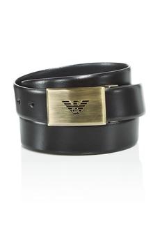 Emporio Armani Men's Logo Buckle Reversible Belt