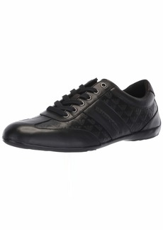 Emporio Armani Men's Logo Penny Loafer Sneaker Black 9 Regular UK ( US)