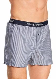 Emporio Armani Men's Loungewear-Yarn Dyed Woven Pajama  L