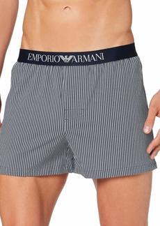 Emporio Armani Men's Loungewear-Yarn Dyed Woven Pajama  XL