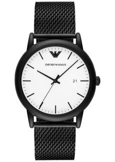 Emporio Armani Men's Luigi Black Stainless Steel Mesh Bracelet Watch 43mm