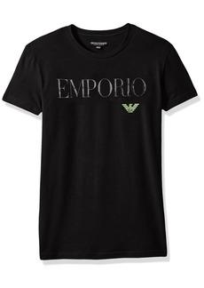 Emporio Armani Men's Megalogo Crew Neck T-Shirt  S