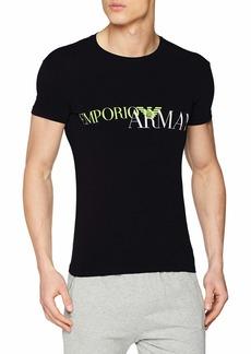 Emporio Armani Men's Megalogo V-Neck T-Shirt