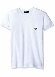 Emporio Armani Men's Metal Logo Band Crew Neck T-Shirt