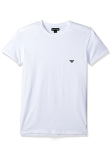 Emporio Armani Men's Metal Logo Band Crew Neck T-Shirt  L