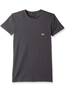 Emporio Armani Men's Metal Logo Band Crew Neck T-Shirt  S