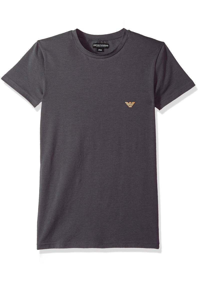 Emporio Armani Men's Metal Logo Band Crew Neck T-Shirt  S