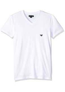 Emporio Armani Men's Metal Logo Band Vneck T-Shirt  S